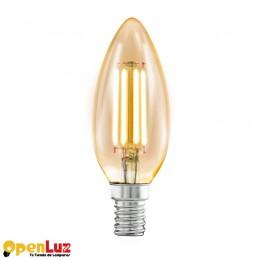 Bombilla Amber 11557, E14 C37 4W AMBER 2200K 11557