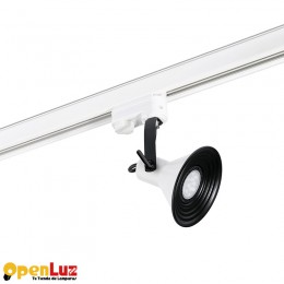 Cup 40594, Cup Proyector De Carril Blanco 1 X Gu10 Led 8W 40594